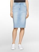 Calvin Klein Denim Light Wash Skirt
