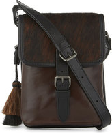 Dries Van Noten Mens Brown Contrast Timeless Small Leather Messenger Bag