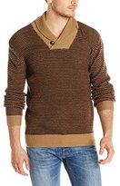 French Connection Men's Polar Gingham Sweater