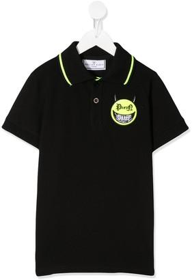 Philipp Plein Evil Smile logo polo shirt