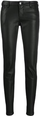Emporio Armani coated skinny jeans