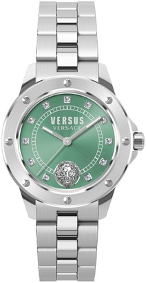 Versace South Horizons Stainless Steel & Swarovski Crystal 3-Hand Watch
