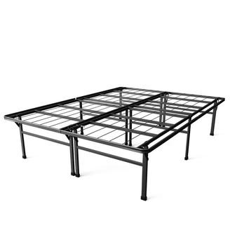 Overstock Full size 18-inch High Rise Folding Metal Platform Bed Frame