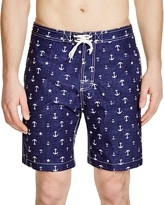 Trunks Anchor Print Chambray Swim