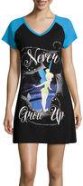 Asstd National Brand Disney Short-Sleeve Tinkerbell Nightshirt