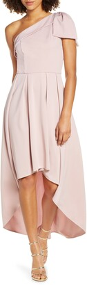 Chi Chi London One-Shoulder High/Low Party Dress