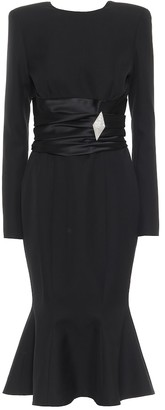 Alexandre Vauthier Embellished wool-crepe midi dress