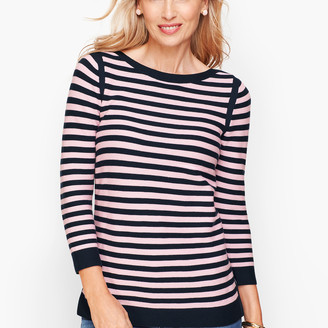 Talbots Link Stitch Sweater - Stripe