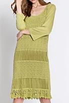 Monoreno Fringe Crochet Dress