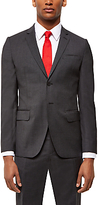 Jaeger Wool Puppytooth Slim Fit Suit Jacket, Charcoal