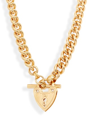 Gas Bijoux Locked Heart Toggle Necklace
