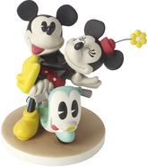 Precious Moments Disney Mickey & Minnie on Scooter Figurine