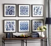 Pottery Barn Indigo Ikat Framed Prints
