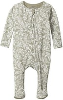 Cotton On The Snug Long Sleeve Zip Romper (Infant/Toddler) (Silver Sage/Paisley Floral) Kid's Jumpsuit & Rompers One Piece