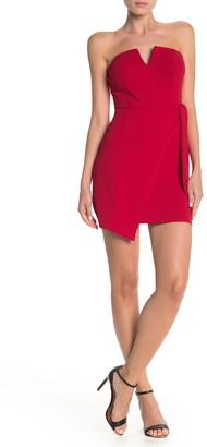 Rowa V Wire Wrap Mini Dress