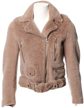 Acne Studios Beige Faux fur Coats