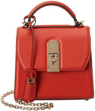 Salvatore Ferragamo Boxyz Mini Leather Satchel