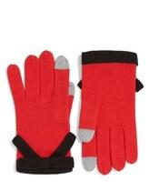 Kate Spade Women's Contrast Bow Tech Friendly Gloves