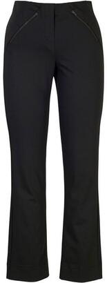 Chesca Black Zip Detail Stretch Trouser