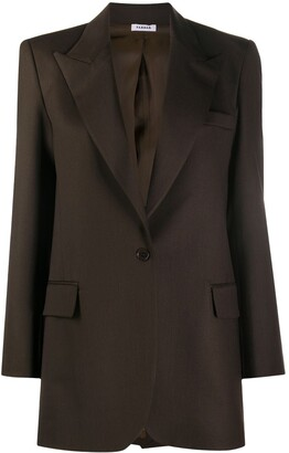 P.A.R.O.S.H. Peak Lapel Single-Breasted Blazer
