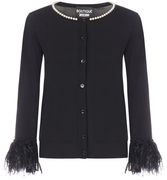 Boutique Moschino Pearl Embellished Cardigan