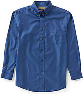 Roundtree & Yorke Gold Label Big & Tall Non-Iron Long-Sleeve Herringbone Sportshirt