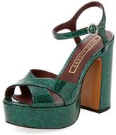 Marc Jacobs Debbie Glitter Platform Sandal