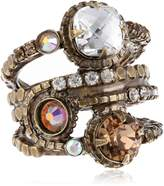 "Sorrelli Sweet Dreams"" Stacked Crystal Ring"