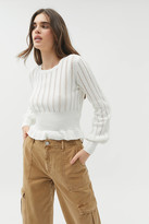 Urban Outfitters The Fifth Label Galaxies Knit Peplum Sweater