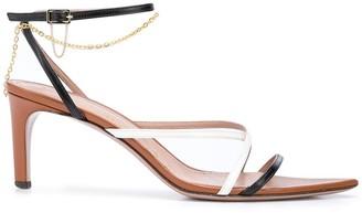 Oscar de la Renta Strappy Chain Detailed Sandals
