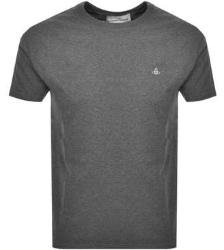 Vivienne Westwood Small Orb Logo T Shirt Grey