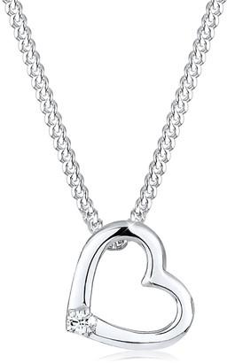 Elli Necklace Heart Swarovski Crystal 925 Sterling Silver