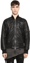 Unravel Nappa Leather Bomber Jacket