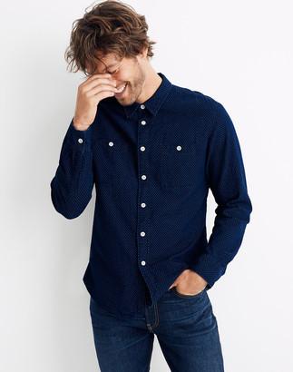 Madewell Long-Sleeve Workshirt in Textured Dot