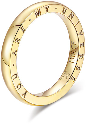"""Milani Alberto Dirce """"You Are My Universe"""" 18k Yellow Gold 2.5mm Band Ring, Size 6.25"""