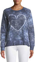 Allen Allen Heart Long-Sleeve Distressed Tee