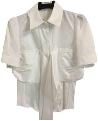Les Hommes White Cotton Top for Women