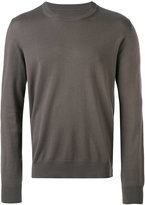 Maison Margiela classic knitted sweater - men - Cotton/Leather/Wool - S