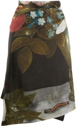 Vivienne Westwood Floral-Print Asymmetric Midi Skirt
