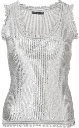 Alexander McQueen Ribbed Design Vest Top