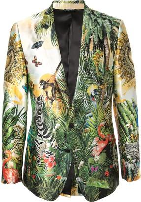Dolce & Gabbana Tropical King Print Blazer