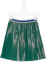 Gucci Kids - iridescent plissé skirt - kids - Silk/Cotton/Polyester/Viscose - 6 yrs