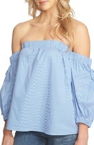 1 STATE Women's 1.state Tie Sleeve Sleeve Off The Shoulder Top