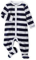Petit Lem Newborn Boys) Stripe Fleece Footie