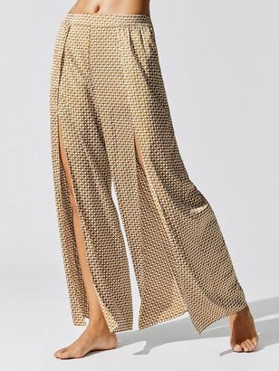 Jonathan Simkhai Chain Print Wide Leg Pant