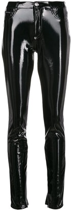 Philipp Plein Coated Skinny Leg Jeggings