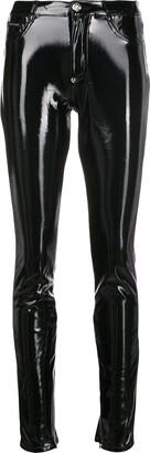 Philipp Plein Coated Skinny Leg Jeggings