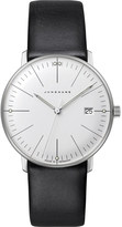 Junghans 047/4251.00 Max Bill stainless steel and leather quartz watch