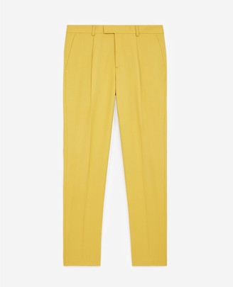The Kooples Mustard yellow wool suit trousers