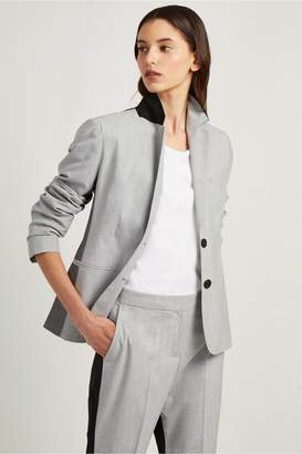French Connection Colour Block Suiting Fitted Blazer